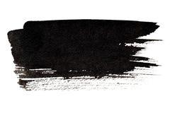 Expressive black brush stroke Stock Images