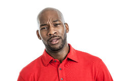 Expressive black man portrait Royalty Free Stock Images