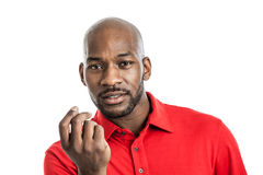 Expressive black man portrait Royalty Free Stock Photos