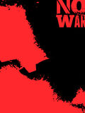 Expressive black and red poster No war in grunge style. Vector illustration. Stock Image
