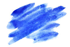 Expressive blue watercolor brush strokes Stock Image