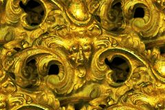 Expressive brass face detail abstract Royalty Free Stock Images