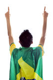 Expressive brazilian fans isolated Royalty Free Stock Image