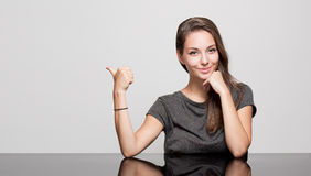 Expressive brunette beauty. Stock Image