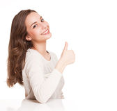 Expressive brunette beauty. Royalty Free Stock Photos