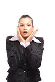 Expressive business woman, Stock Photography