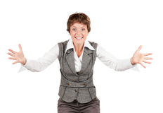 Expressive businesswoman Royalty Free Stock Photos