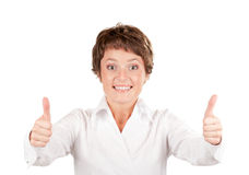 Expressive businesswoman Stock Image