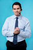Expressive call center executive Royalty Free Stock Photo
