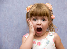Expressive child Stock Images