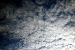 Expressive contrast of the clouds in the sky Stock Image