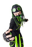 Expressive Cyber Goth guy Stock Image
