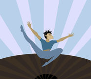Expressive Dance. A dancer in motion - also could be used as free-falling figure Stock Illustration
