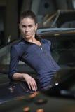 Expressive, dangerous beauty woman portrait Royalty Free Stock Photography