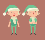 Expressive Elf in Different Poses Stock Photography