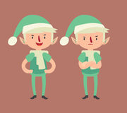 Expressive Elf in Different Poses Stock Images
