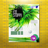 Expressive geometric eye stopper at corporate background Royalty Free Stock Photography