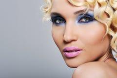Expressive glamour girl stock photos