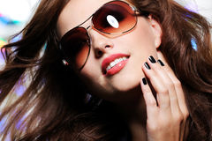 Expressive glamour woman Royalty Free Stock Images