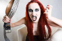 Expressive gothic woman with artistic makeup Royalty Free Stock Photos