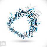 Expressive groove concept. Royalty Free Stock Photo