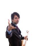 Expressive Guitarist Royalty Free Stock Photos