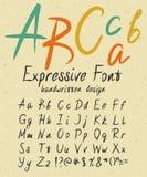 Expressive handwritten font design Stock Photography