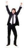 Expressive happy businessman Stock Photos