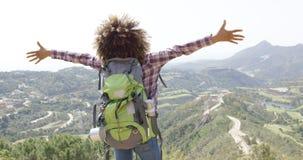 Expressive happy traveler Stock Photos