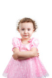 Expressive kid. Litlle kid. Shot in studio.  Isolated with clipping path Stock Images