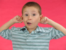 Expressive kid A Royalty Free Stock Images