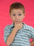 Expressive kid D Stock Photos