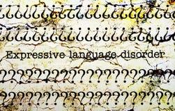 Expressive language disorder stock images