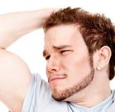 Expressive man headshot Stock Photo