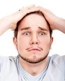 Expressive man headshot Royalty Free Stock Images