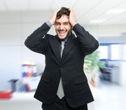 Expressive man portrait in his office Stock Photography