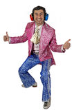 Expressive man in stage costume. Royalty Free Stock Photo