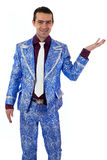 Expressive man in stage costume. Stock Photos