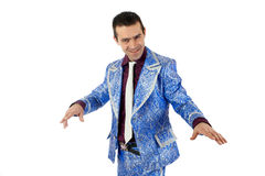 Expressive man in stage costume. Stock Photography