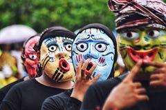 Expressive mask stock image