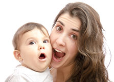 Expressive mother Royalty Free Stock Photography