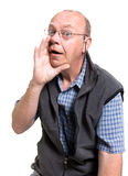 Expressive old man Stock Photography