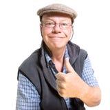 Expressive old man Stock Photos