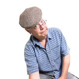 Expressive old man Royalty Free Stock Photography