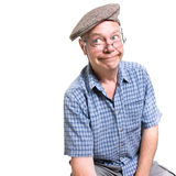 Expressive old man Royalty Free Stock Photos