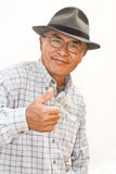 Expressive old man Royalty Free Stock Photos