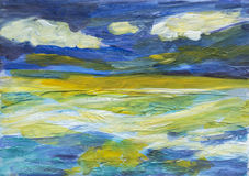 Expressive painting of the sea and sky Stock Photography