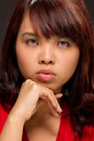 Expressive portrait of a young woman Royalty Free Stock Image