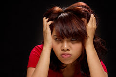 Expressive portrait of a young woman Royalty Free Stock Photos