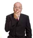 Expressive senior businessman Royalty Free Stock Photo